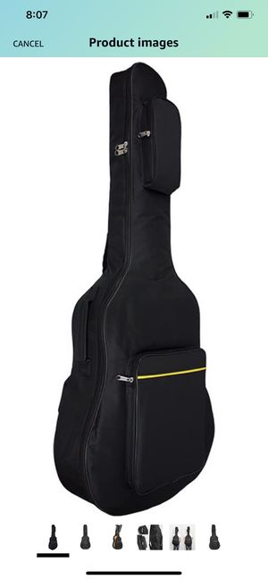 Acoustic Guitar Gig Bag Soft Case Padding 41 Inch Oxford Fabric with Dual Adjustable Shoulder Strap, Black, by Vangoa Acoustic Guitar Gig Bag Soft C for Sale in Raleigh, NC