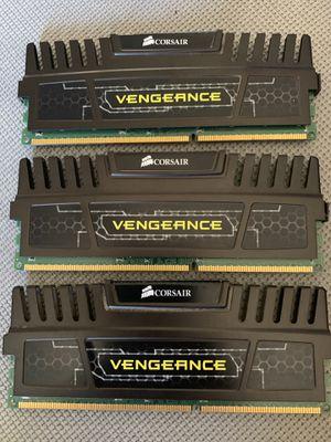 3 pieces of CORSAIR high performance Vengeance memory module 12GB ( 3 x 4GB ) for Sale in El Cajon, CA