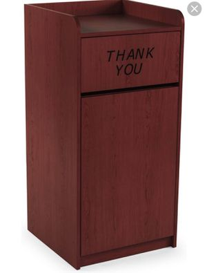Wooden restaurant trash can thank you engraved for Sale in Nashville, TN