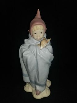 Lladro Golden Memories Elf with Fawn Porcelain Figurine for Sale in Portland,  OR