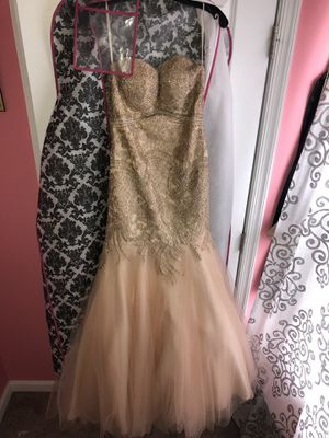 Rose Gold Mermaid Prom Dress (Size 2) for Sale in Aberdeen, MD