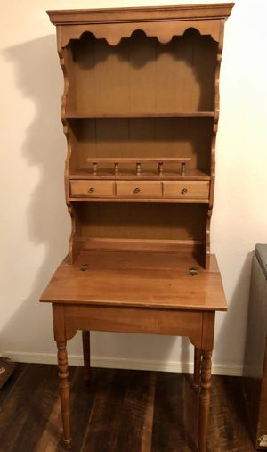 Antique writing desk with book shelf for Sale in undefined