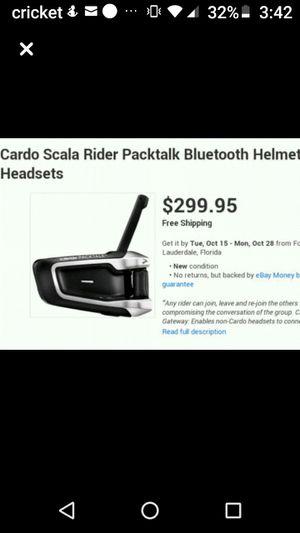 cardo rider packtalk Bluetooth helmet headset for Sale in Las Vegas, NV