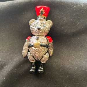 VINTAGE NAPIER PIN CHRISTMAS TEDDY BEAR TOY SOLDIER - Movable Head, Arms And Legs for Sale in Santa Fe Springs, CA