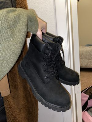 Black, tan, combat boots!! Perfect fall shoes! for Sale in Orlando, FL