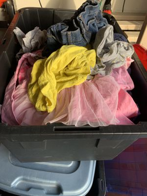 Bin of girl clothes for Sale in Concord, CA