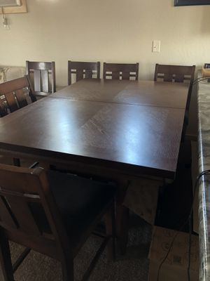 Counter Height Dining table with 6 chairs velour seats for Sale in Heber-Overgaard, AZ