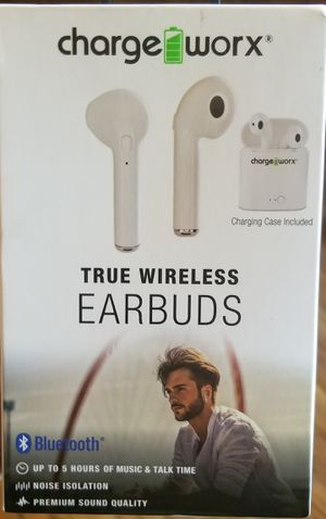 WIRELESS BLUETOOTH CHARGEWORX EARBUDS BUILT IN MIC RECHARGEABLE NEW FOR SALE APPLE ANDROID for Sale in Nashville, TN