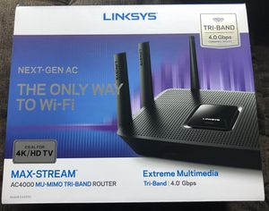 Linksys AC4000 model EA9300 Trump-Band Router for Sale in Columbus, OH