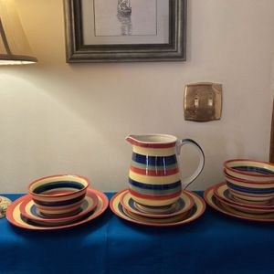 Swirl Dinner Plates (3), Bread Plates (4), Bowls (3), Pitcher (1) for Sale in Alexandria, VA