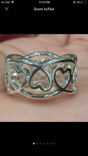 Sterling silver plated hearts ring for Sale in Silver Spring, MD