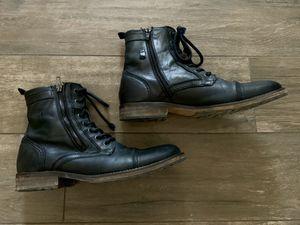 Men's Aldo Black leather zip up boots size 9 for Sale in Tempe, AZ