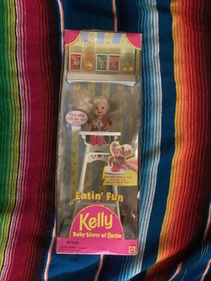 NIB Eatin' Fun Kelly Baby Sister Of Barbie Doll 1997 Mattel # 18582 NEW in Box!. Condition is New for Sale in Gold River, CA