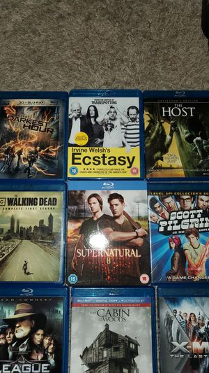 Blu ray movies and TV show seasons. LIKE NEW!Walking dead(1) Grimm(1) Supernatural(8) for Sale in Mission Viejo, CA