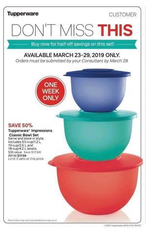 Tupperware Expressions Classic Bowl Set for Sale in Alvin, TX