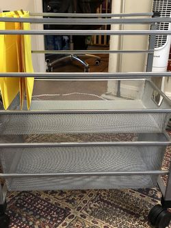 Elfa Platinum Mesh File Cart for Sale in Takoma Park,  MD