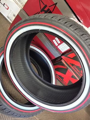 New redline vogues tyres in all sizes. $0 take home layaway. Ulohos 2940 N Keystone Mon-Sat 10-6 for Sale in Indianapolis, IN