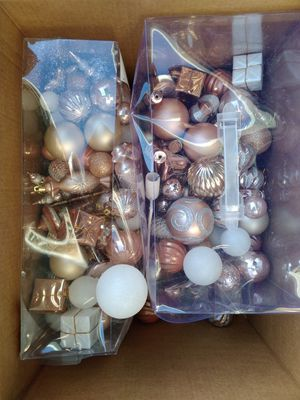 Christmas Rose Gold Decorations for Sale in Pembroke Pines, FL