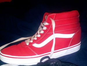 Red High-top Vans ;Size 8 1/2 for Sale in Seattle, WA