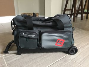 Brunswick rolling two bowling ball bag for Sale in Tampa, FL