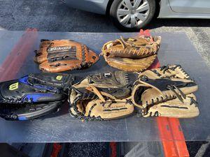 Baseball gloves multiple for Sale in PA, US