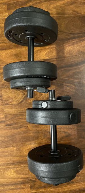 Weights 40lb Vinyl dumbell set NEW for Sale in Tulare, CA