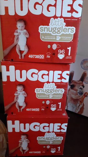 Diapers Huggies littte snugglers size 1 /96 count for Sale in Fort Lauderdale, FL