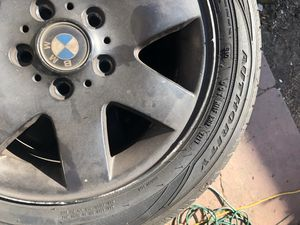 BMW E46 BLACK TIRES & RIMS: GOODYEAR ASSURANCE for Sale in Oakland, CA