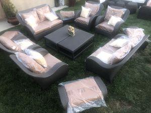 Huge patio furniture set sunbrella for Sale in Riverside, CA