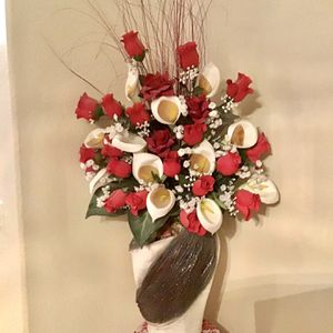 Artificial Flower With Vase for Sale in Brighton, CO