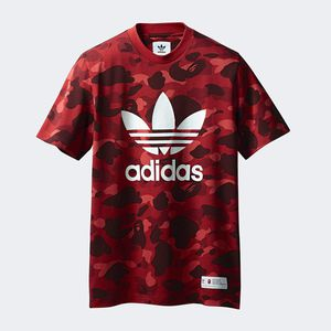 Adidas x bape collaboration red tee for Sale in Herriman, UT