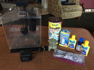 Fish Tank/Mini Aquarium + Accessories for Sale in Redmond, WA
