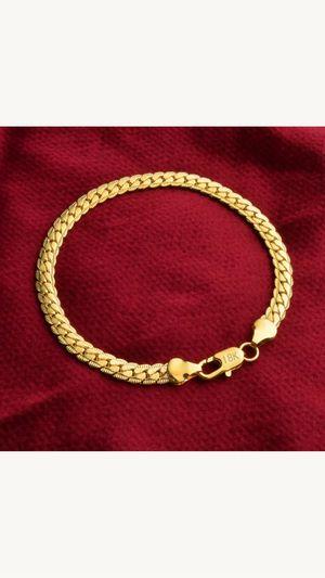 "18k gold filled 18k stamped 7.78"" bangle bracelet jewelry accessory for Sale in Spencerville, MD"