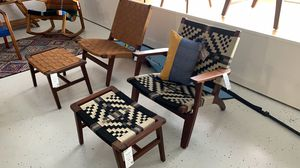MID CENTURY MODERN ARM CHAIR WITH OTTOMAN LIQUIDATION SALE for Sale in Stuart, FL