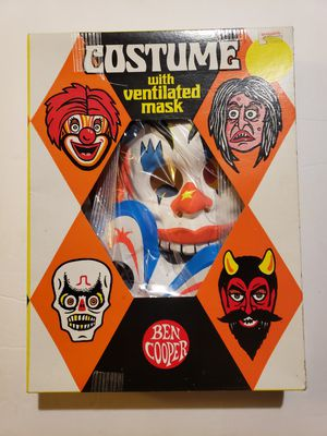 Ben Cooper Vintage Halloween Clown Costume PLUS extra Mask for Sale in Reinholds, PA