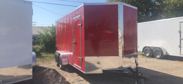 Enclosed trailers 2021 model 7x16