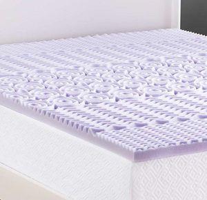 LUCID 2 Inch 5 Zone Lavender Memory Foam Mattress Topper - Queen for Sale in Seattle, WA