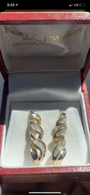 10K Gold Diamond 💎 Earrings for Sale in Brighton, CO