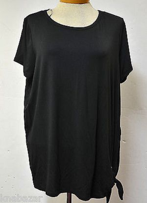 Michael Kors Basics Side-Tie Top Black Size L for Sale in Philadelphia, PA