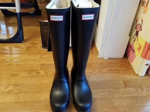 Hunter Original Tall Rain Boots; Womens Size 9; Matte Black; Brand new for Sale in Campbell, CA