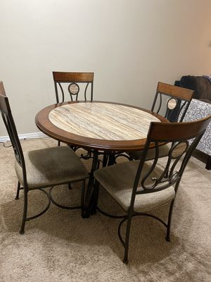 Luxury dining/breakfast table with 4 chairs for Sale in Dallas, TX