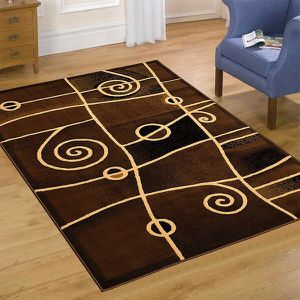 Chocolate brown color area rug brand new thick quality for Sale in Salem, OR