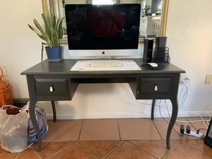 Desk gray ( modern vintage look) not imac for Sale in Pomona, CA