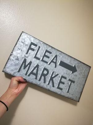 Galvanized Steel Flea Market Sign Home Decor Lot for Sale in Sunnyvale, CA