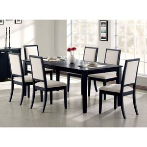 Coaster Lexton 7pc Dining Set (Expandable table with 6 Chairs) Solid Wood for Sale in Greenville, SC