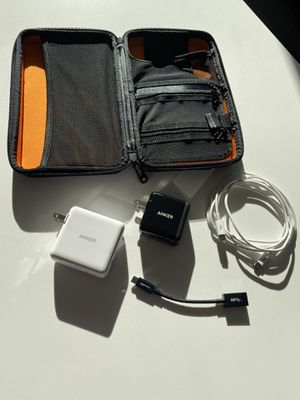 Assorted charging ports and cables with case for Sale in Arlington, VA