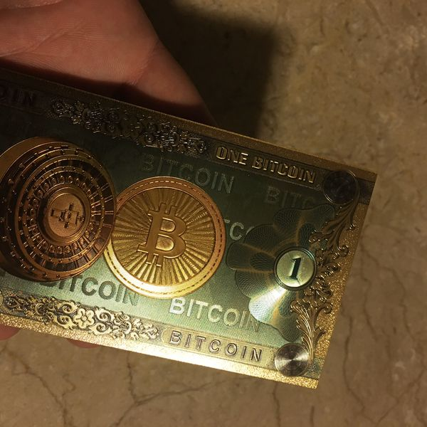 RARE Limited BITCOIN Electroplated Gold Note