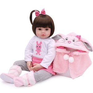 Lifelike Reborn Baby Dolls, 18 inch Realistic Weighted Reborn Baby Girl Toddler Girls Rabbit Toy Gift Set for Sale in City of Industry, CA