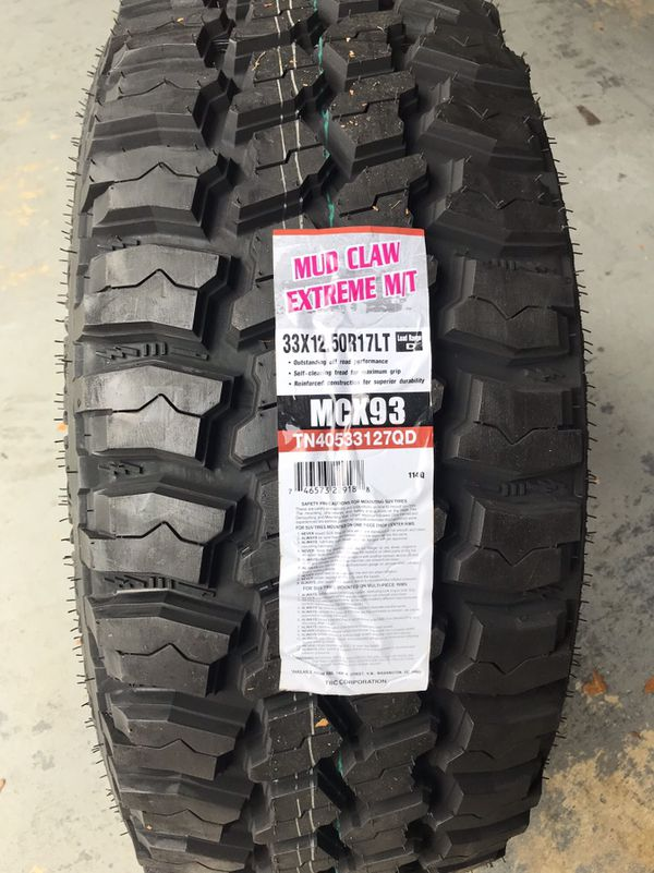"""Used Mud Tires For Sale >> Brand New Mud Terrain Off-road 17"""" Tires 33x12.50R17 TBC Mud Claw Extreme M/T $199 each Mud ..."""