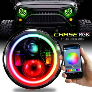 Jeep Wrangler Color Chase RGB Halo Wireless Projector Headlamp for Sale in Dallas, TX